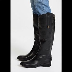 Sam Edelman Tall Black Leather Penny Riding Boots
